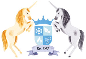 The Magical Unicorn Society crest